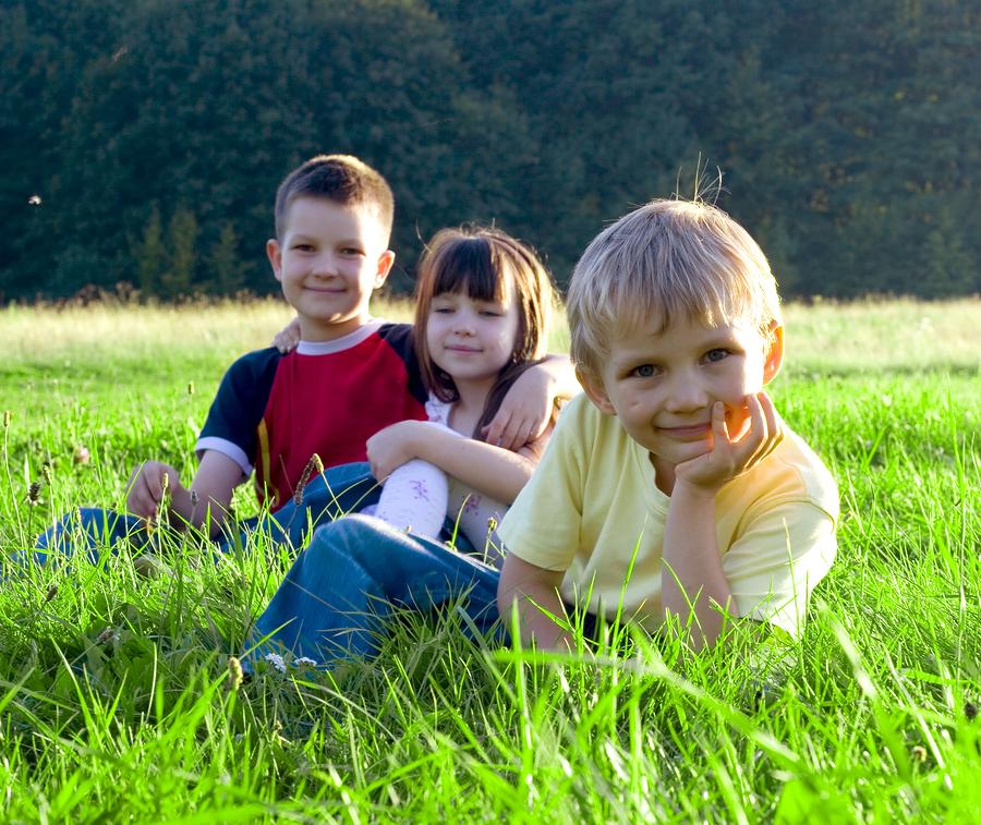 bigstockphoto_Children_On_A_Meadow_1041495