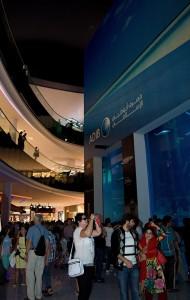 Spojené arabské emiráty, Dubaj. Nákupní centrum Dubaj Mall.