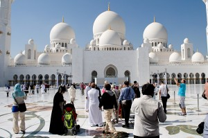 Spojené arabské emiráty. Abu Dhabi, mešita šejka Zayeda.