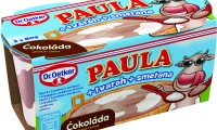 Paula + tvaroh + smetana s čokoládovo-vanilkovou příchutí Dr.Oetker.