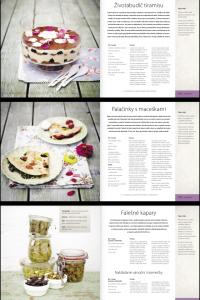 """Ukázka z knihy """"Květinová kuchařka""""."""