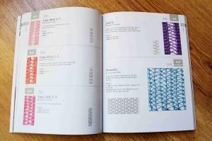 """Ukázka z návodové knihy """"Pletená krajka"""", kterou vydalo nakladatelství Metafora."""