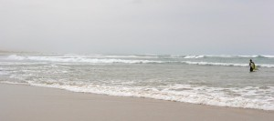 Pláž v Hossegoru, Francie.