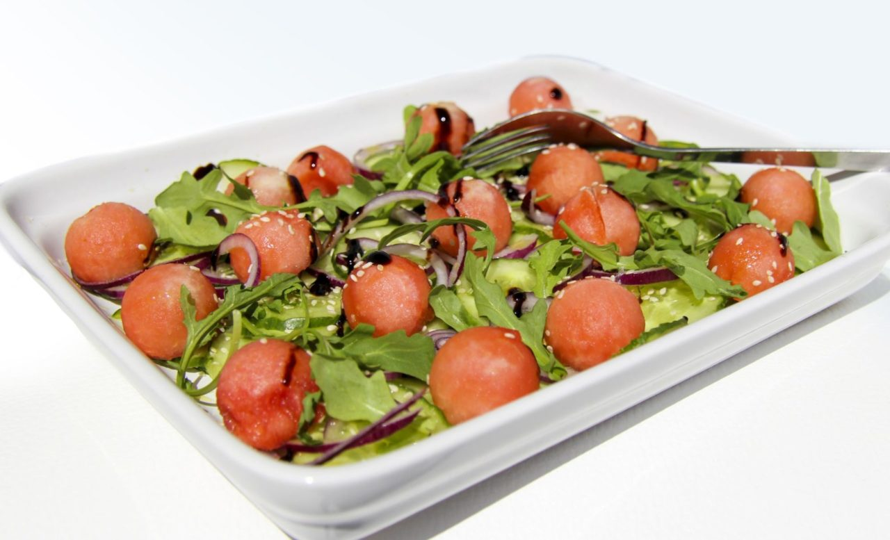 Melounovo-okurkovy salat