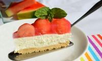 Na tento vynikající melounový cheesecake si kupte bezpeckový meloun.