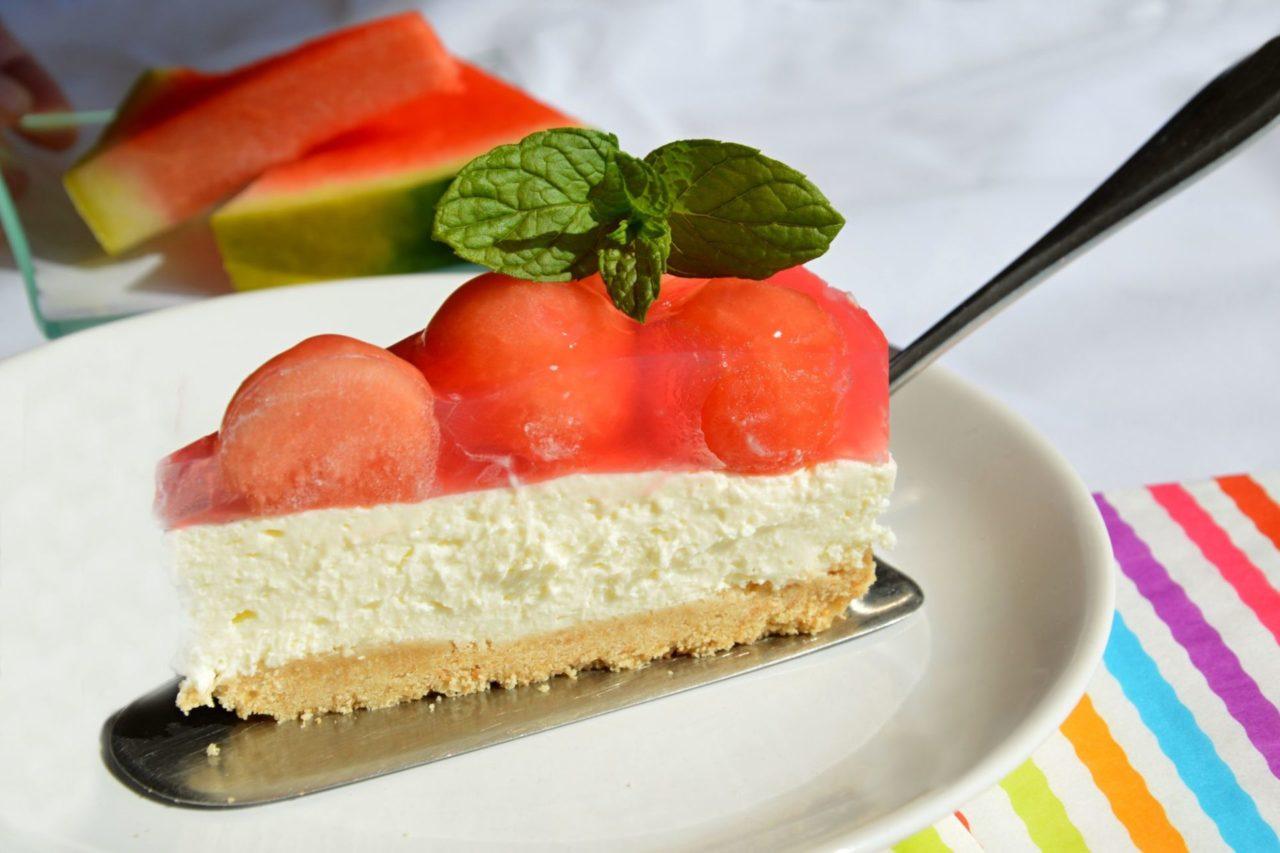 Melounovy cheesecake
