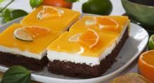 Nadýchané těsto, svěží náplň a pomerančová želatina. to je dokonalá kombinace chutí.
