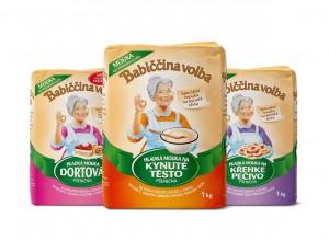 Babiččina volba. Speciální mouky na různé druhy pečiva a moučníků.