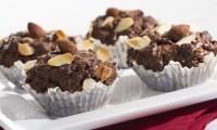 Čokoládové muffiny s ovesnými vločkami.