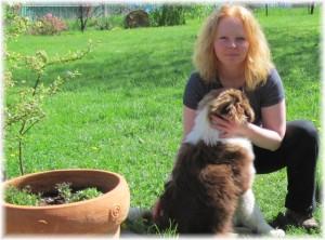 Simona a její pes Bárník.