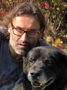 Josef Urban se svým psem.